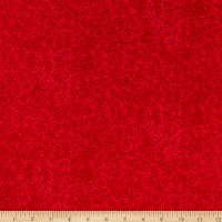 QT Fabrics Basics Harmony Cotton Curly Scroll Blender Red