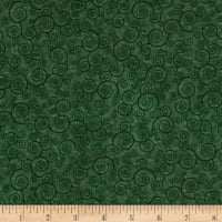 QT Fabrics Basics Harmony Cotton Curly Scroll Blender Evergreen