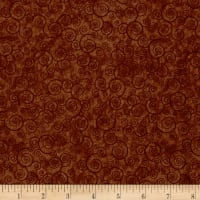 QT Fabrics Basics Harmony Cotton Curly Scroll Blender Terracotta