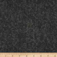 QT Fabrics Basics Harmony Cotton Curly Scroll Blender Charcoal