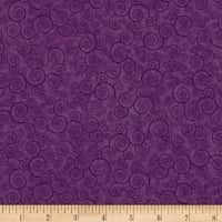 QT Fabrics Basics Harmony Cotton Curly Scroll Blender Pansy