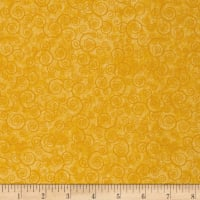 QT Fabrics Basics Harmony Cotton Curly Scroll Blender Sunflower