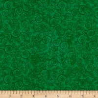 QT Fabrics Basics Harmony Cotton Curly Scroll Blender Shamrock
