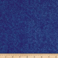 QT Fabrics Basics Harmony Cotton Curly Scroll Blender Sapphire