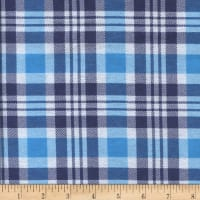 Printed Flannel Gabriel Plaid Turq/Navy