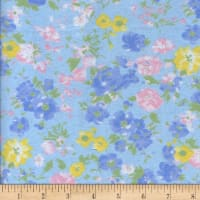 Printed Flannel Jardin Blue