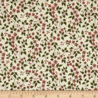 QT Fabrics Antiquities Bethel Floral & Leaves Cream