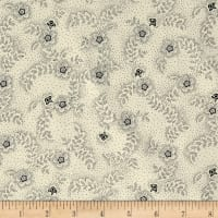 QT Fabrics Antiquities Colebrook Floral & Leaf Toss Cream/Black