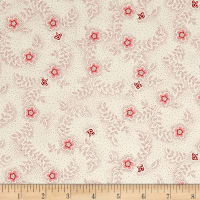 QT Fabrics Antiquities Colebrook Floral & Leaf Toss Cream/Red