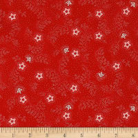QT Fabrics Antiquities Colebrook Floral & Leaf Toss Red