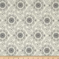 QT Fabrics Antiquities Colebrook Large Medallion Cream/Black
