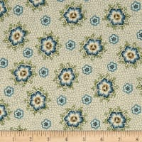 QT Fabrics Antiquities Stafford Spaced Dotted Floral Cream