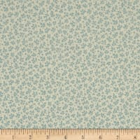 QT Fabrics Antiquities Stafford Mini Leaf Blue