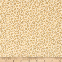 QT Fabrics Antiquities Stafford Mini Leaf Gold