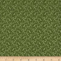 QT Fabrics Antiquities Windsor Scroll Olive