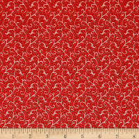QT Fabrics Antiquities Windsor Scroll Red