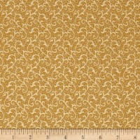 QT Fabrics Antiquities Windsor Scroll Dark Gold