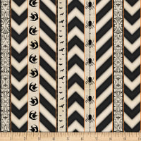 Wilmington Something Wicked Ticking Stripe Ivory