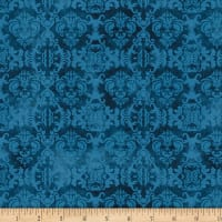 Wilmington Feather Your Nest Damask Blue