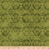 Wilmington Feather Your Nest Damask Green