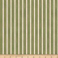 Wilmington Feather Your Nest Ticking Stripe Green/Cream