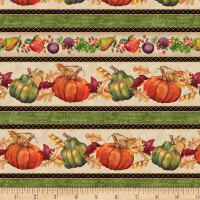 Wilmington Thankful Harvest Repeating Stripe Multi