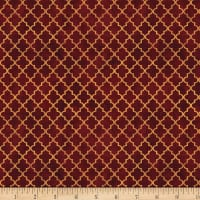 Wilmington Thankful Harvest Quatrefoil Red