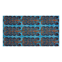 Supreme African Wax Print Broadcloth 6 Yards Blue/Orange