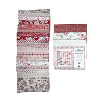 Riley Blake Stacked Hearts in Rustic Romance Quilt Kit Multi