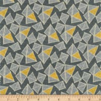 Benartex Sevilla Mellow Yellows Dark Grey