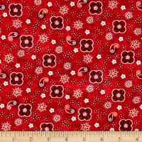 Studio E American Folk Abstract Red