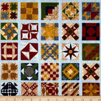 Riverwoods Quilt Barns & Bridges Blue