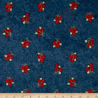 Riverwoods Vintage Vogue Laundry Cherries Navy