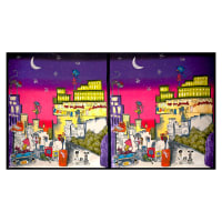 "Riverwoods Les Meowerables City Night 23.5"" Panel Multi"