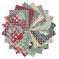 "Fabric.com Glamping Gypsies 2.5"" Square Precut Multi - Exclusive"