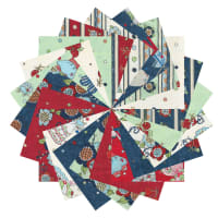 "Fabric.com Vintage Vogue Laundry 5"" Square Precut Multi - Exclusive"