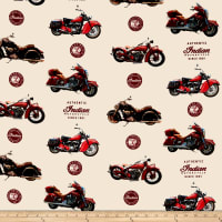 Riley Blake Indian Motorcycle Main Cream