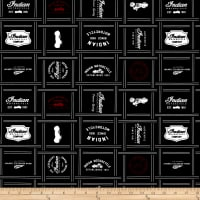 Riley Blake Indian Motorcycle Patches Black