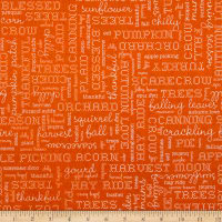 Riley Blake Autumn Love Text Orange