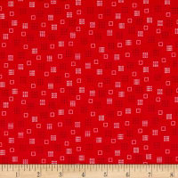 Riley Blake Autumn Love Squares Red