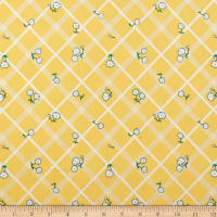 Penny Rose Calico Crow Plaid Yellow