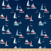 Riley Blake Seaside Boats Navy