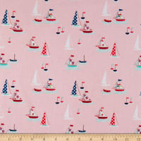 Riley Blake Seaside Boats Pink