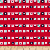 Riley Blake Seaside Flags Red