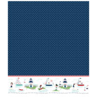 Riley Blake Seaside Single Border Navy