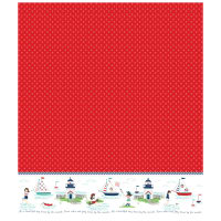 Riley Blake Seaside Single Border Red