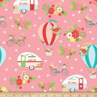 Riley Blake Vintage Adventure Main Pink
