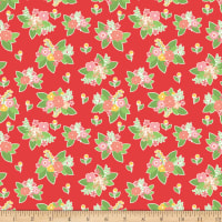 Riley Blake Vintage Adventure Floral Red