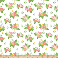 Riley Blake Vintage Adventure Floral White