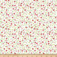 Riley Blake Vintage Adventure Tiny Floral White